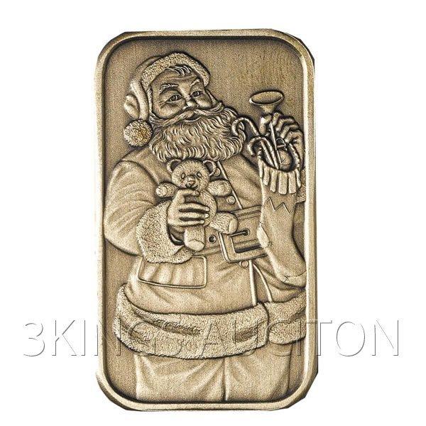 Christmas 2009 Bronze Bar X-1 Santa (with ornament hold