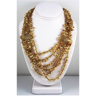 763.50ct Philippine Sea Shells Crystal Granite Necklace