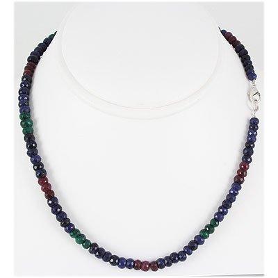 148.07ctw Natural Multi-Color Rondelles Necklace