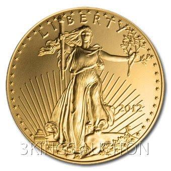 Uncirculated 1 oz. 2012 US American Gold Eagle
