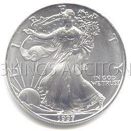 Uncirculated Silver Eagle 1997