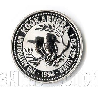 Australian Kookaburra 1 oz. Silver 1994