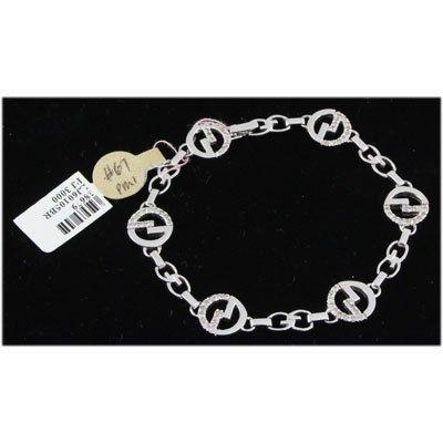 Genuine 0.75ctw Diamond Bracelet 14kt W/G 14k W/G