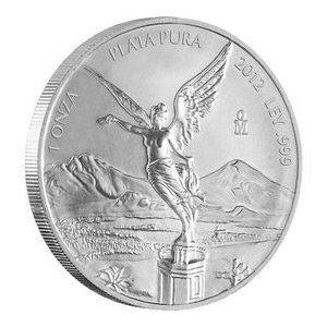 002713782: Mexican Silver Libertad 1 Ounce 2012