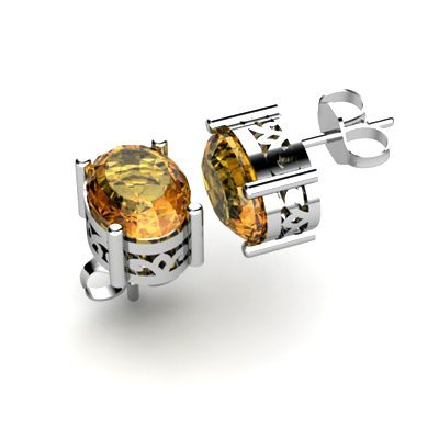Citrine 2.50ctw Earring 14kt White Gold