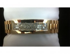 Rolex 7.10 ctw Princess Cut Diamond Bracelet G-H/VS2