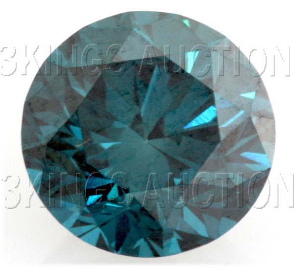 6.8mm-1.31 cts. Loose Sky Blue Diamonds Round, SI