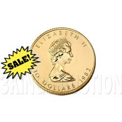 Canada Maple Leaf Quarter Ounce Gold Coin (Date Our Cho