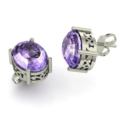 Tanzanite 7.00ctw Earring 14kt White Gold