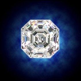 EGL 1.50 Ctw Certified Asscher Brilliant Diamond, H, VS