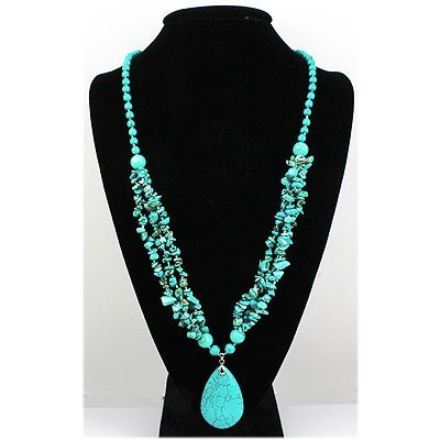 Natural 523.72ctw Turquoise Sterling Silver Necklace