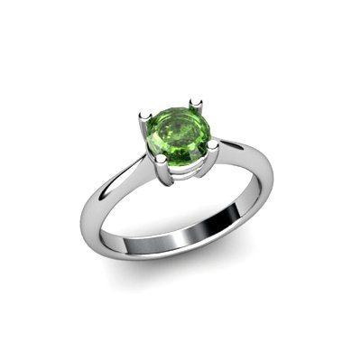 Tourmaline 0.75ctw Ring 14kt White Gold
