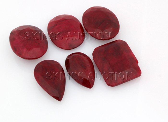 197.00ctw Ruby Mix Shape&Sizes LooseGemstone