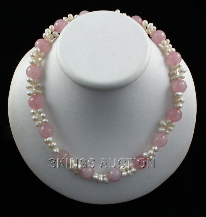 """320.79CTW 18"""" PETAL PINK FRESHWATER PEARL WITH CORAL NE"""