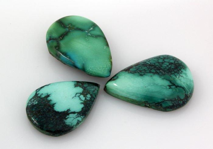 Turquoise 158.94ctw PearCut LooseGemstone