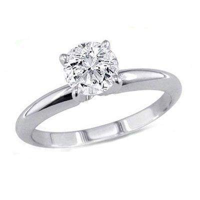 1.00 ct Round cut Diamond Solitaire Ring, G-H, VS
