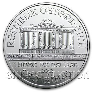 One Ounce Austrian Philharmonic Silver 2012