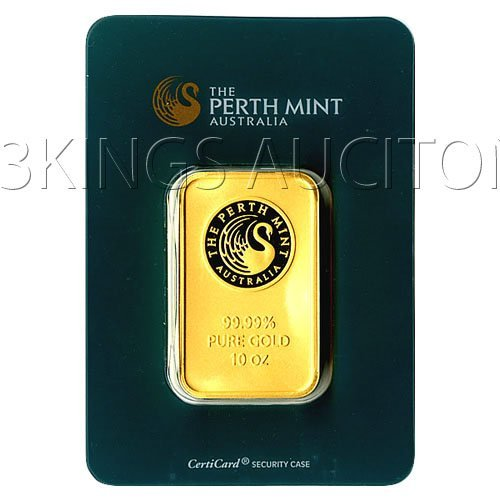 Ten Ounce Gold Bar Perth Mint