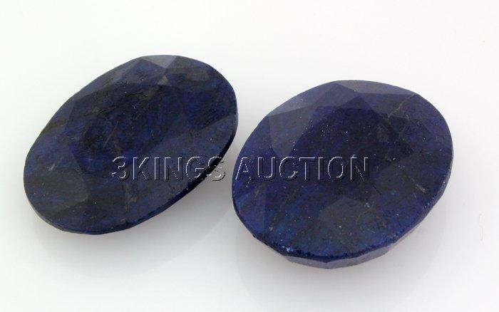 154.17ctw SapphireOvalCutLooseGemstone lotof2