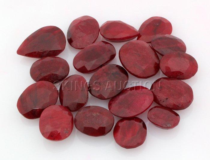 156.00ctw Ruby Mix Shape&Sizes LooseGemstone