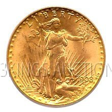 $20 Saint Gaudens Uncirculated Early Gold Bullion
