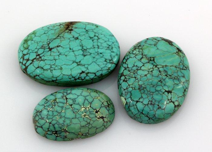 Turquoise 136.00ctw OvalCut LooseGemstone