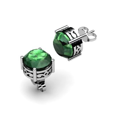 Emerald 3.40ctw Earring 14kt White Gold