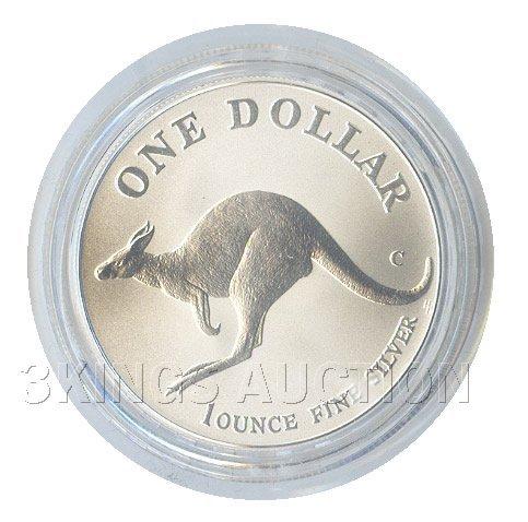 Australian Kangaroo 1 oz. Silver 1998