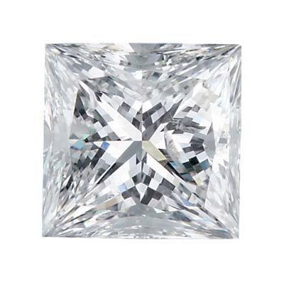 Certified Princess Diamond 1.00 Carat H, VVS1 GIA