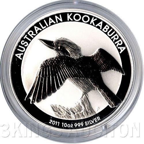 Australian Kookaburra 10 oz Silver 2011