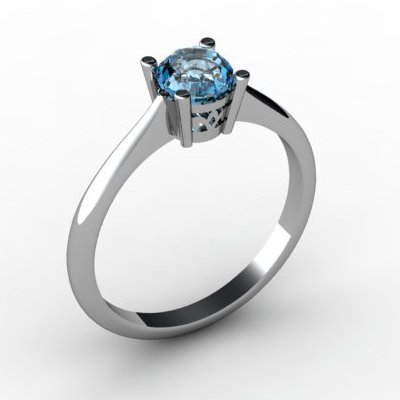 Topaz 0.56 ctw Ring 14kt White Gold