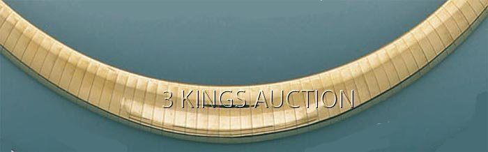 OMEGA NECKLACES 9.5mm-4mm 17in. 33 grs 14kt Y Gold