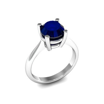 Sapphire 2.25ctw Ring 14kt White Gold