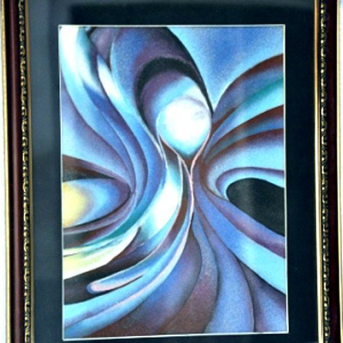 2D Modern Art Gemstone Painting size 17in.x21in.