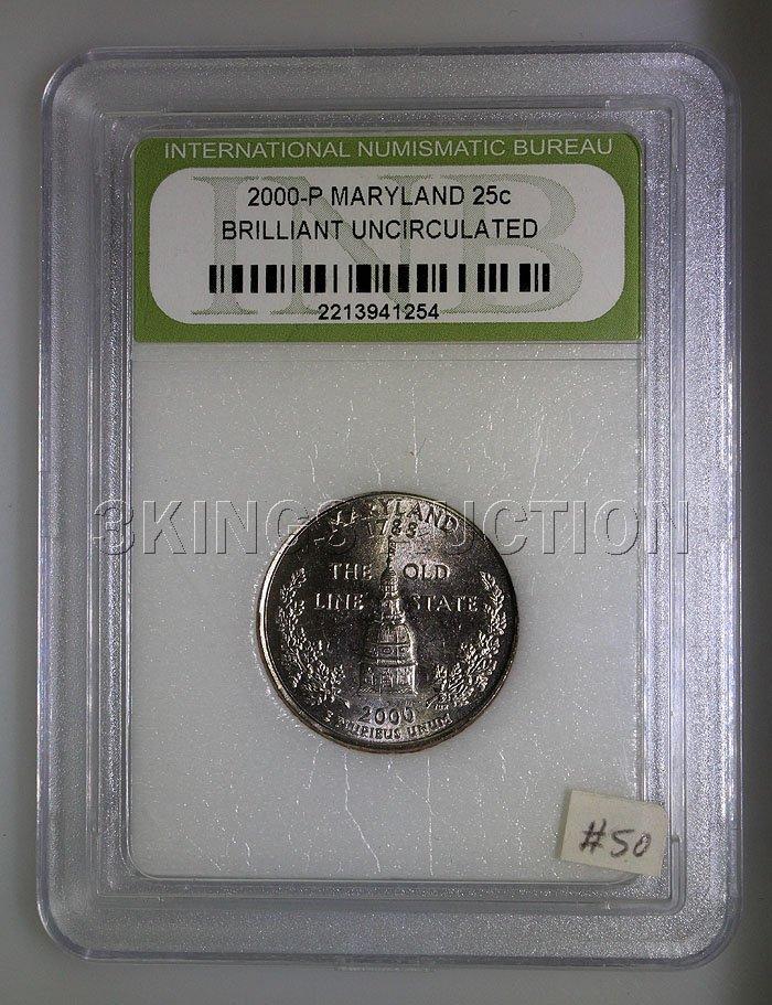 2000-P Maryland 25Cents BU1 INB - 2