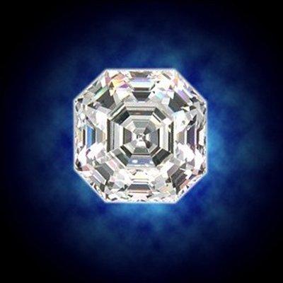 EGL 1.60 ctw Certified Asscher Brilliant Diamond, J, VS