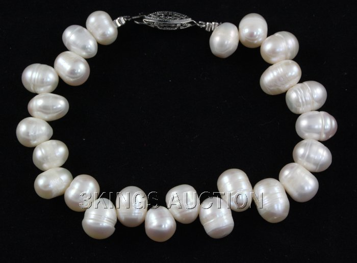 """277.68CTW 18"""" WHITE FRESHWATER PEARL NECKLACE METAL LOC"""