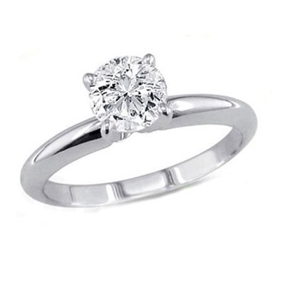 0.90 ct Round cut Diamond Solitaire Ring, G-H, VVS