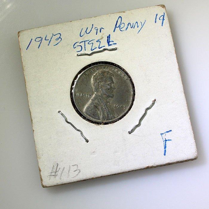 1943 War Steel Penny F
