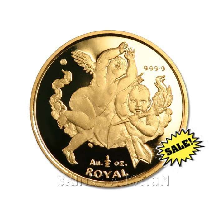 Gibraltar Half Ounce Gold Royal Cherub 2001