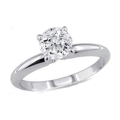 2.33 ct Round cut Diamond Solitaire Ring, G-H, SI2