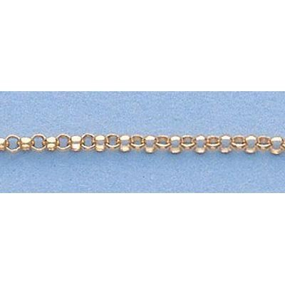 """Pure Gold 16"""" 14k Gold-Yellow 1.7mm Rolo Chain 3.2g"""