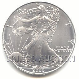 Uncirculated Silver Eagle 2000