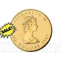 Canada Maple Leaf Half Ounce Gold Coin (Date Our Choice