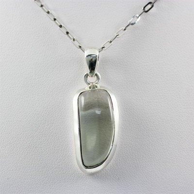33.5ctw Prehnite Silver Pendant