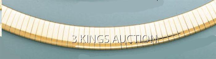 OMEGA NECKLACE 8mm 16in. 48.7 grs 14kt Y Gold