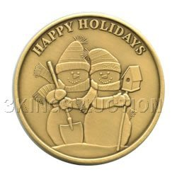 Christmas 2011 Bronze Round X-11 Happy Holidays (with o