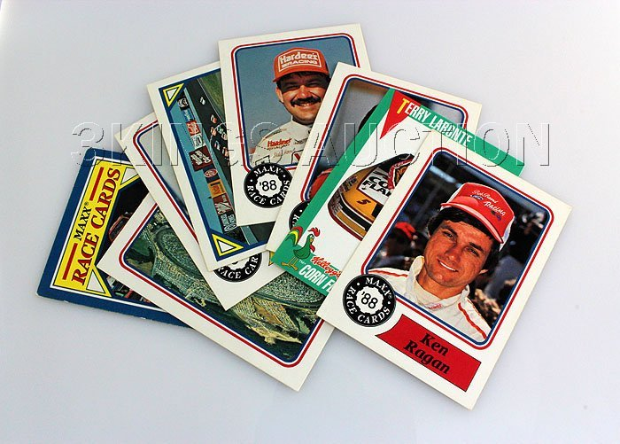 NASCAR Cards 1988 (Great Shape) - 8 pcs.