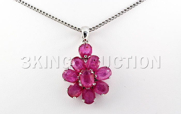 24.83CTW Natural Pink Ruby-Sterling Silver Pendant
