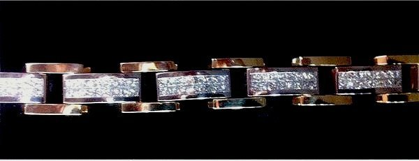 9.00 CTW PRINCESS CUT YG BRACELET G-H, VS2